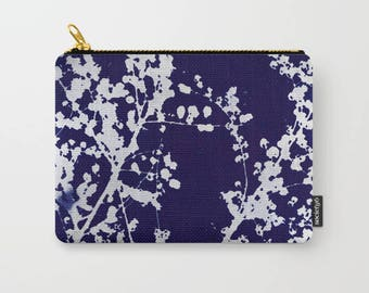 AUTUMN BLUES Carry-All pouch, notions bag, three sizes available