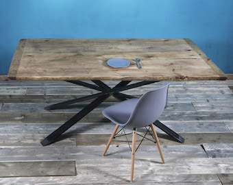 Dining table Britta with steel 180x95cm support