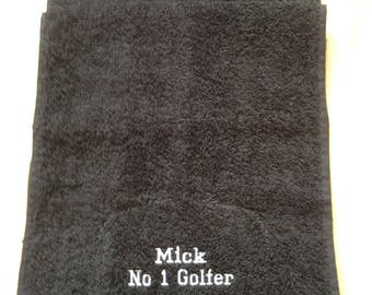 Personalised Embroidered Golf Towel