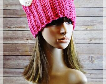 Pussycat hat pattern | Crochet Pattern | Pussyhat Pattern | Cat Beanie Hat | Sizes: Toddler, Child, Adult | by AngelsChest  Pattern No. 73