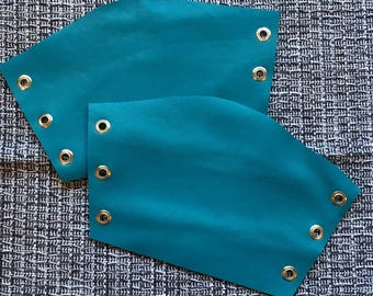 Pair of Teal/ Turquoise Bracers (sold with lacing)