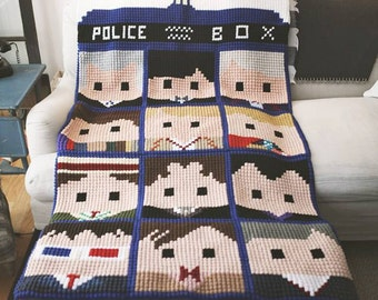 Doctor Who Faces of the Doctor crochet graphs *NOW includes the 13th Doctor* Pattern Only