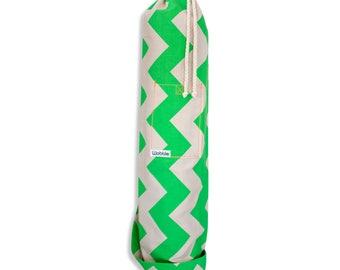 Neon Green chevron Wobble Yoga bag