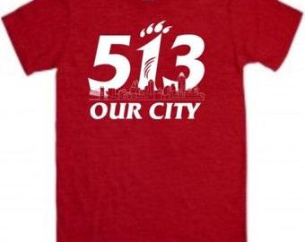 University of Cincinnati Bearcats 513 custom made t-shirt