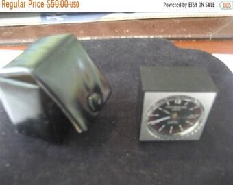 Sale 30% Off Miniswiss Alarm 17 Jewels Cube Alarm Clock Travel Clock Vintage'