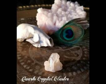 Quarts crystal cluster