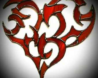 Tribal Heart in Stained Glass