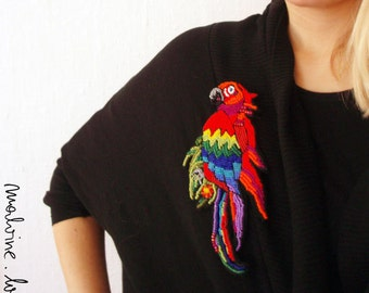 """Parrot jewelry - brooch """"Scarlet Macaw"""" - MADE TO ORDER"""
