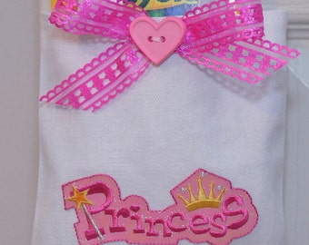 Little Tote Bag for Little Things Princess Pink and White