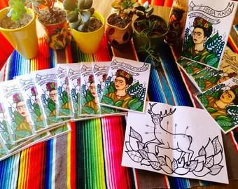 Frida Kahlo Mini Coloring Book