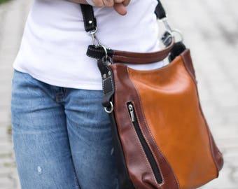 LEATHER SHOULDER Bag, Leather Purse, Brown HOBO Bag, Women's Handbag, Leather Handbag, Everyday Crossbody, Leather Bag, Leather Laptop Bag