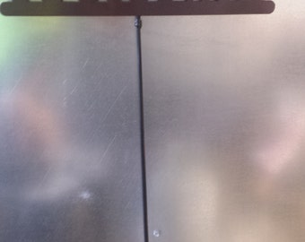 CNC Plasma Cut Cross Welcome Sign with removable stake