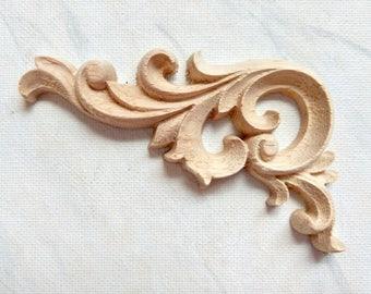 Acanthus Leaf Corners, Corners Appliques, Furniture Appliques, Wood Onlay,  Acanthus Leaf Onlay, Wood Embellishment, Wood Carving, 1 Pair
