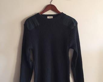 Vintage 100% Wool Canadian Army Sweater by Standard Knitting LTD. Dark Green. iPZ8AgD1