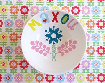 Small bowl in porcelain blue flower