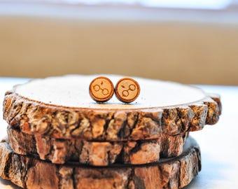 Lasercut Harry Potter HP Glasses Baltic Birch Stud Earrings | HP Stars | HP earrings | Potter gifts