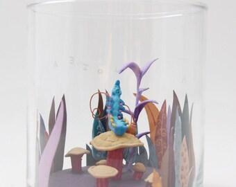 Alice in Wonderland Absolem 'Hookah' Caterpillar Miniature Sculpture Diorama