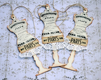 Paris Mannequin Gift Tags