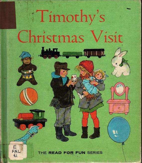 Timothy's Christmas Visit The Read For Fun Series + Ann Mari Falk + Ilon Wikland + 1964 + Vintage Kids Book