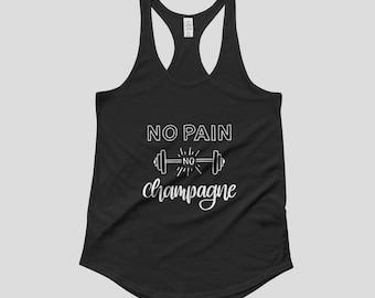 No Pain No Champagne Women's Tank Top