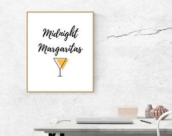 Digital Print, Wall Art Print, Midnight Margaritas, Practical Magic Movie Quote DIGITAL DOWNLOAD