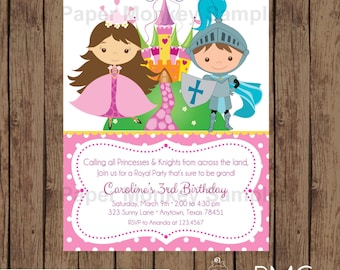 Custom Printed Princess Birthday Invitations Blonde