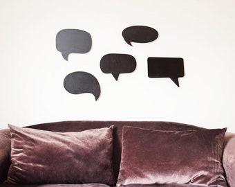 Chalkboard Speech bubbles