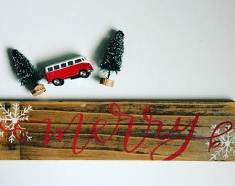 Merry - Reclaimed Wood Sign