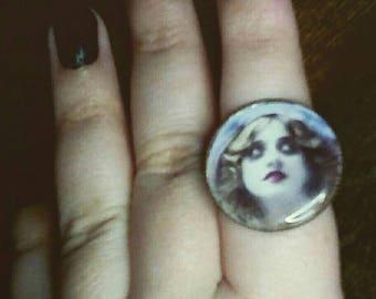 Creepy Image Statement Ring.
