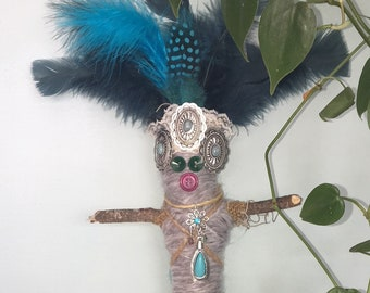 Blue and Gray Voodoo Doll