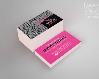 Salon business card etsy printed beauty salon business cards b14 hot pink black royalty card punch colourmoves