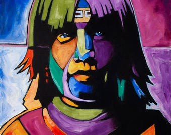 Mohave Girl, Acrylic Painting, Giclée Print
