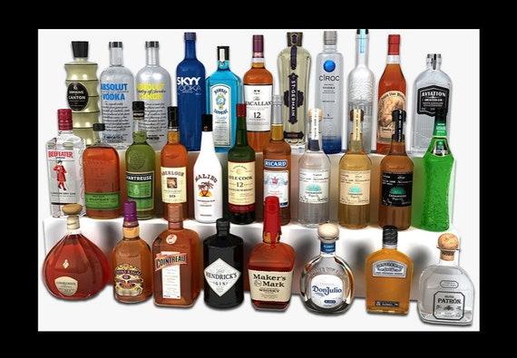 Liquor Bottle Vase