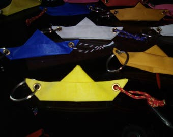 2 door keys recycled sail, sail becomes boat