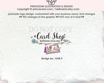 1240-5  shop logo, logo design, card shop logo, logo branding, business branding, business logo design, craft logo, hand craft