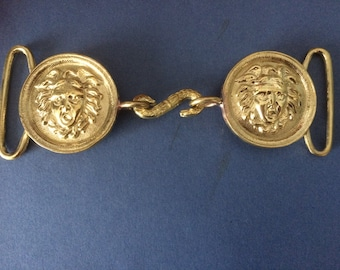 Reproduction French Medusa Napoleonic Brass Buckle