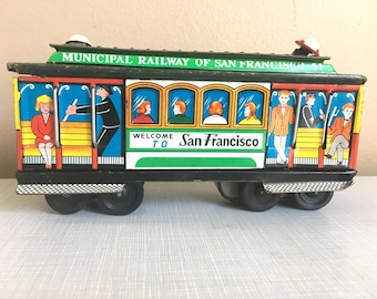 Vintage Tin Toy San Francisco Trolly Car