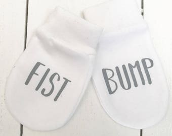 Fist bump baby scratch mitts