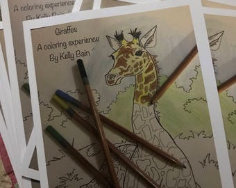 Giraffes A coloring experience