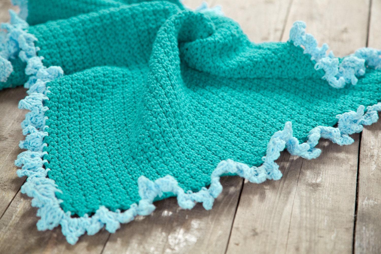 Crochet baby afghan with ruffle edging - Crochet Ruffle Border ...