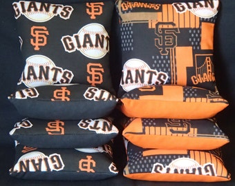 Set of 8 San Francisco Giants Cornhole Bean Bags Top Quality FREE SHIPPING