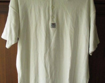 Levis Levi Strauss Mens White Cotton Polo Shirt Size M Used