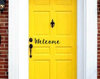 Welcome Front Door Decal | Front Door Decals | Door Stickers | Door Decal | Welcome Stickers | Entryway Decor | Wall Decor