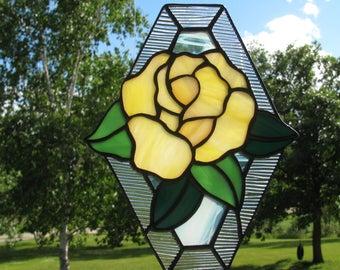 Yellow Rose Suncatcher