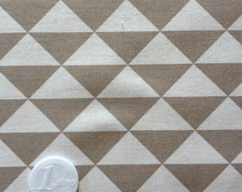 coupon fabric patchwork 50 X 50 cm / beige triangle