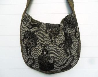 Bohemian Bag Purse Safari Leopard Tiger Animal Print Messenger Crossbody