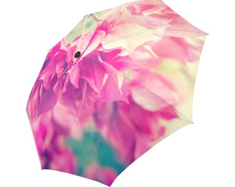 Flower Umbrella Pink Umbrella Pink Floral Umbrella Designed Umbrella Photo Umbrella Rainbow Umbrella Photo Umbrella Automatic Abstract