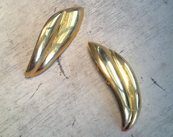 Long Gold Clip-on Earrings