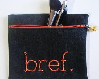 "Orange ""Noreen"" brief case - makeup case"