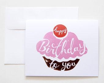 Cupcake Birthday Card | Birthday Card | Happy Birthday to You